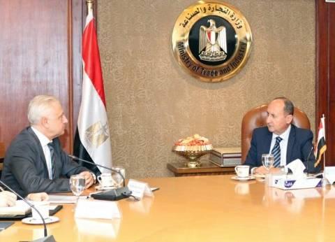 وزير التجارة والصناعة يلتقي بسفير بيلاروسيا بالقاهرة