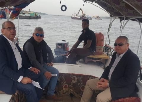 مساعد وزير النقل يتفقد المجرى الملاحي لنهر النيل بين الأقصر وأسوان