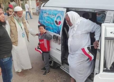 سيارات حزب النور تواصل حشد الناخبين بالسويس