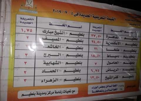 بالصور.. محافظ كفر الشيخ يتابع تطبيق التعريفة الجديدة في المواقف