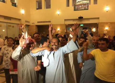 بالصور| استمرار إقبال المصريين على التصويت في جدة