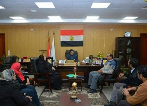 """رئيس جامعة دمياط يستقبل وفد """"المقاولون العرب"""""""