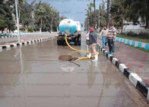 طوارئ بالدقهلية لمواجهة الأمطار الغزيرة على مدينة جمصة