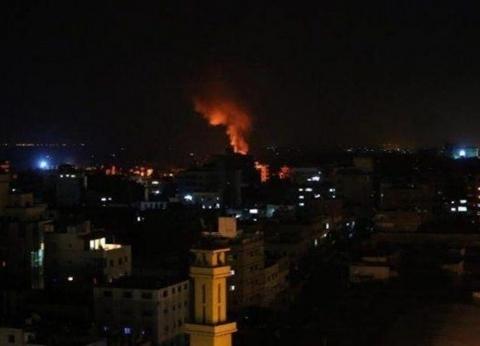 بالفيديو| اللقطات الأولى لقصف طائرات الاحتلال قطاع غزة الفلسطيني