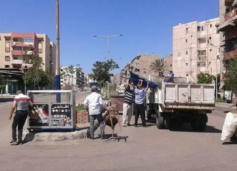 رفع 10 فاترينات سجائر في حملة لإزالة الإشغالات بحي الزهور ببورسعيد
