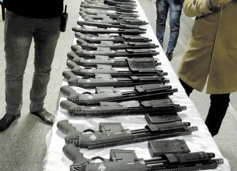"""""""أمن أسيوط"""" يضبط 38 قطعة سلاح ناري"""