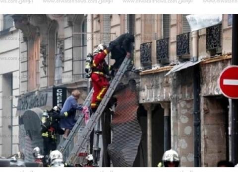 بالصور| إجلاء مصابي انفجار باريس من النوافذ