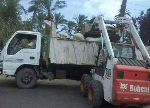 حملة نظافة بكفر البطيخ خلال العيد بدمياط