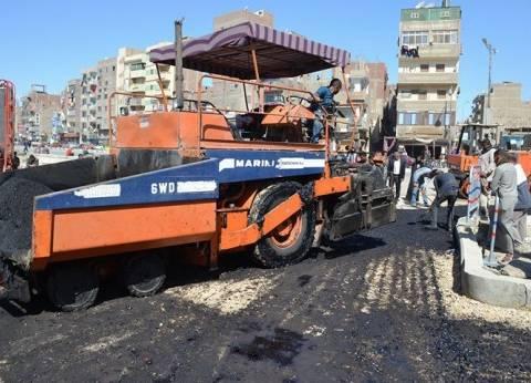 بدء أعمال رصف شارع أحمد عرابي بالسويس اليوم