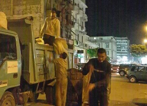 رئيس حي الشرق ببورسعيد يتابع أعمال النظافة وإنارة أعمدة الكهرباء