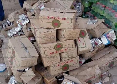 ضبط عصير وبسكويت فاسد في كفر سعد