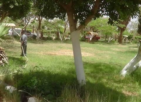 تطوير الحديقة الدولية في أسيوط لاستقبال المواطنين خلال عيد الفطر