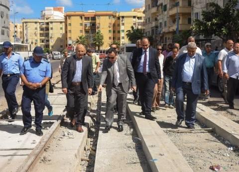 """محافظ الإسكندرية يمنح النقل أسبوعين للانتهاء من إحلال """"ترام رأس التين"""""""