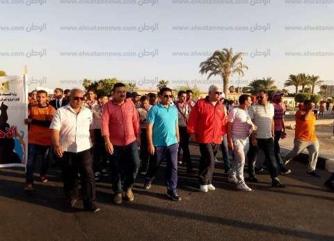 بالصور| انطلاق مسيرة الاحتفال باليوم العالمي للشباب في جنوب سيناء