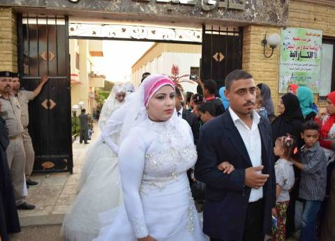 بالصور| بدء حفل زفاف جماعي لـ200 عريس وعروسة في سوهاج