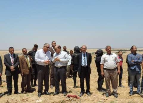 مساعد وزير الداخلية ومدير أمن الفيوم يترأسان حملة استرداد أملاك الدولة