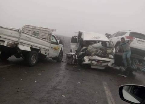 حصاد «الشبورة والسرعة»: مصرع 6 وإصابة 67 وتحطم 22 سيارة فى 4 محافظات