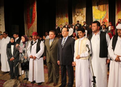 بالصور| قصر ثقافة الفيوم يحتفل بالعيد القومي للمحافظة بالإنشاد الديني