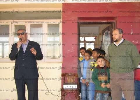 بالصور| رئيس مدينة أبورديس المعلم هو من يصنع مستقبل الدول