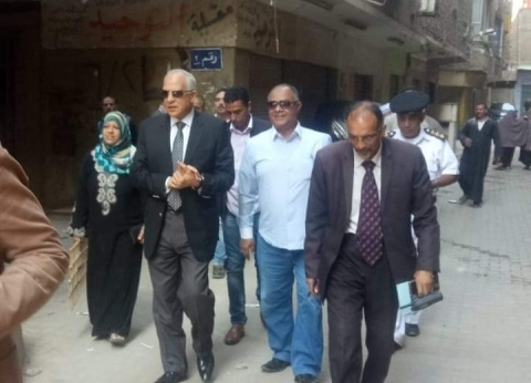 راشد يتفقد أعمال التطوير بحي شمال الجيزة