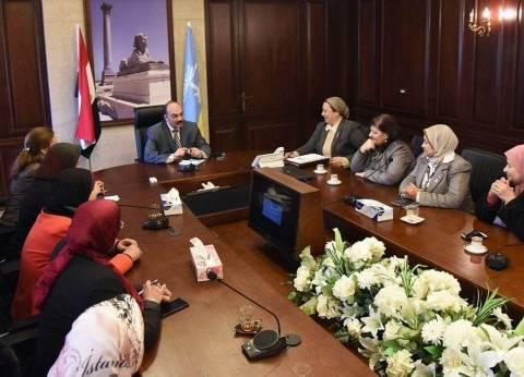 محافظ الإسكندرية يجتمع بأعضاء المجلس القومي للمرأة
