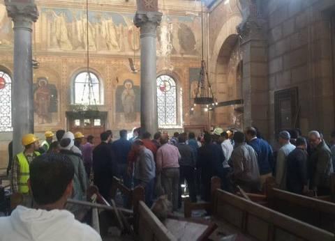 فيديو| موقع حادث انفجار الكنيسة البطرسية عقب الحادث مباشرة
