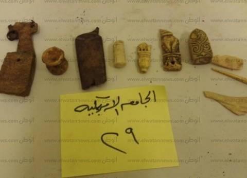 إيداع القطع الأثرية المستردة من الجامعة الأمريكية بمخازن متحف الحضارة