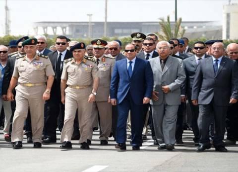 السيسي يتقدم الجنازة العسكرية لبطرس غالي