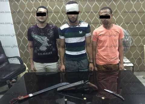ضبط 3 أشخاص بينهم طالب يمارسون أعمال البلطجة بالمنصورة