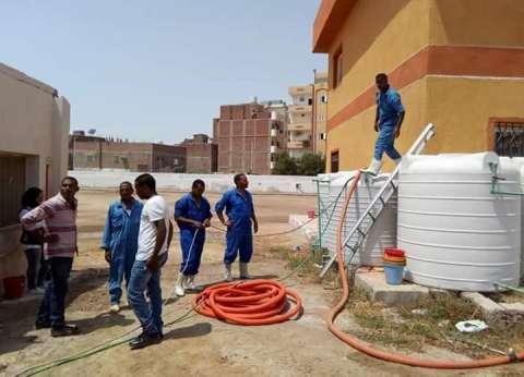 تطهير مياه شرب مدارس البحر الأحمر قبل بدء العام الدراسي 2018/ 2019