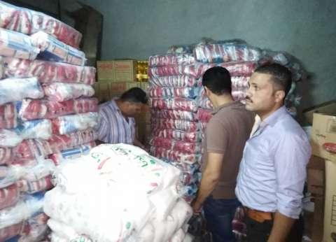 """""""أمن الدقهلية"""": ضبط 23 طن أرز وسكر مدعم قبل بيعها في السوق السوداء"""