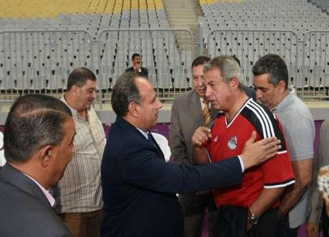 وزير الشباب ومحافظ الإسكندرية يشهدان تدريب المنتخب الوطني