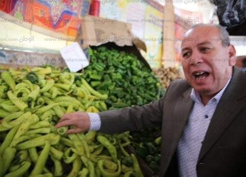 بالصور| محافظ كفر الشيخ يتفقد شادر بيلا لبيع الخضار بأسعار مخفضة