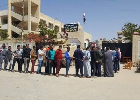 وصول 1500 ناخب من المنقولين في العريش للشيخ زويد ورفح
