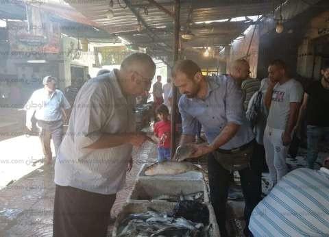 وكيل وزارة التموين بشمال سيناء يتفقد سوق السمك بالعريش