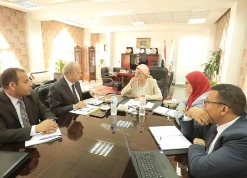 """وزيرة البيئة ومحافظ القليوبية يجتمعان لمناقشة أزمة """"قمامة الزرائب"""""""