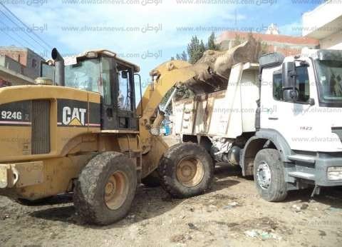 إزالة 78 طن قمامة في مركز أبو قرقاص بالمنيا
