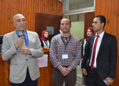 """عميد كلية الآداب جامعة المنوفية يشهد حفل تدشين أسرة """"شبابيك"""" الطلابية"""