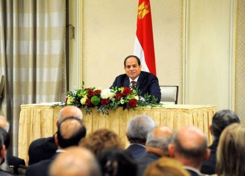بالصور| السيسي في لقاء الجالية: الاقتصاد المصري على المسار السليم