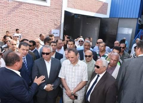 وزير القوى العاملة يتفقد محطة مياه شرب «تلراك» في الشرقية