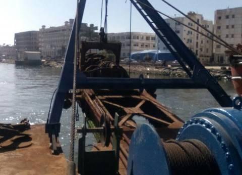 وصول شفاط عملاق لبدء أعمال التكريك ببوغاز عزبة البرج في دمياط