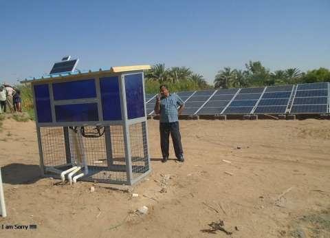 مركز بلاط بالوادي الجديد ينتهي من حفر بئر وتشغيله بالطاقة الشمسية