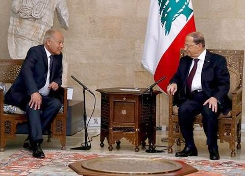 الرئيس اللبناني يستقبل الأمين العام لجامعة الدول العربية