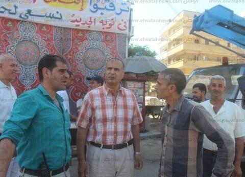 بالصور| مساعد محافظ كفر الشيخ يتابع هدم 73 محلا مخالفا بدسوق