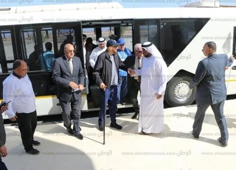 محافظ جنوب سيناء يستقبل مدير مركز الإمارات للدراسات بمطار شرم الشيخ