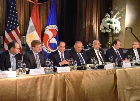 «السيسى»: مصر زاخرة بالفرص الواعدة للاستثمار وبوابة رئيسية للشركات الأمريكية للعبور إلى أفريقيا