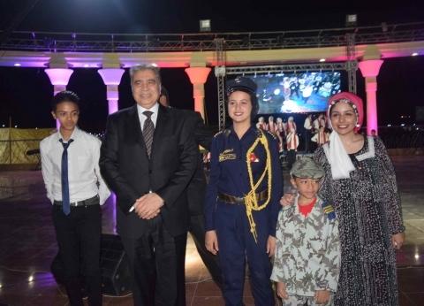 محافظ المنيا يشهد الاحتفال بذكرى انتصارات أكتوبر بالمسرح الروماني