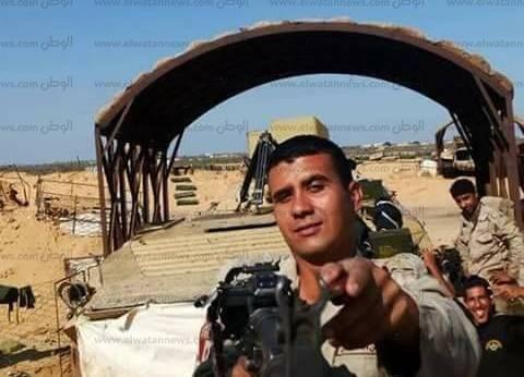 أهالي أبوحمص بالبحيرة يشيعون جثمان شهيد سيناء ممدوح المصري