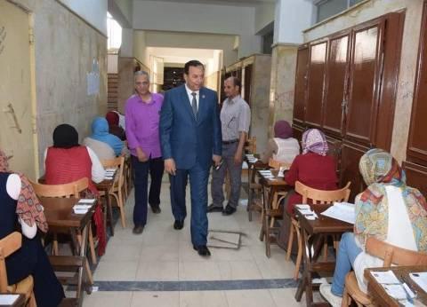 رئيس جامعة المنوفية يتفقد امتحانات الاقتصاد المنزلي