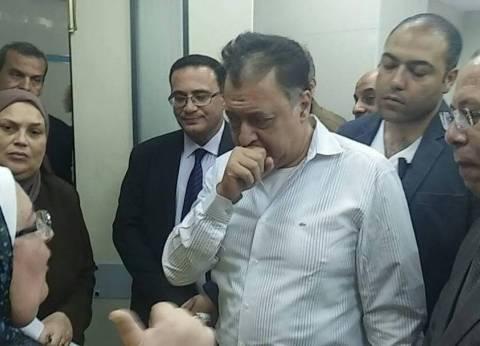 وزير الصحة يوجه بنقل مصابي حادث المنيا الإرهابي لمستشفى معهد ناصر